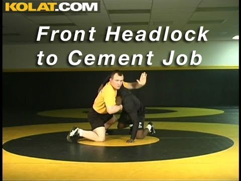 Front Headlock to Cement Job KOLAT.COM Wrestling Moves Techniques Instruction Image 1