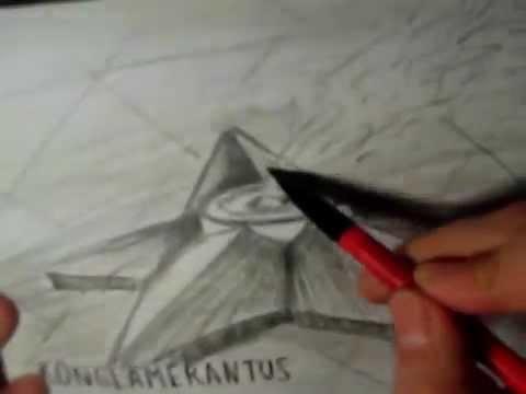 Видео как нарисовать памятник карандашом поэтапно