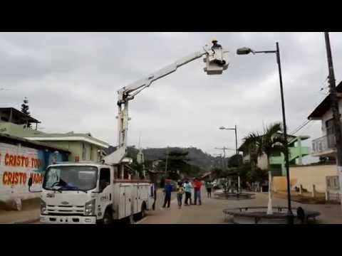 GADM Chone gestiona arreglo de luminarias en Santa Rita