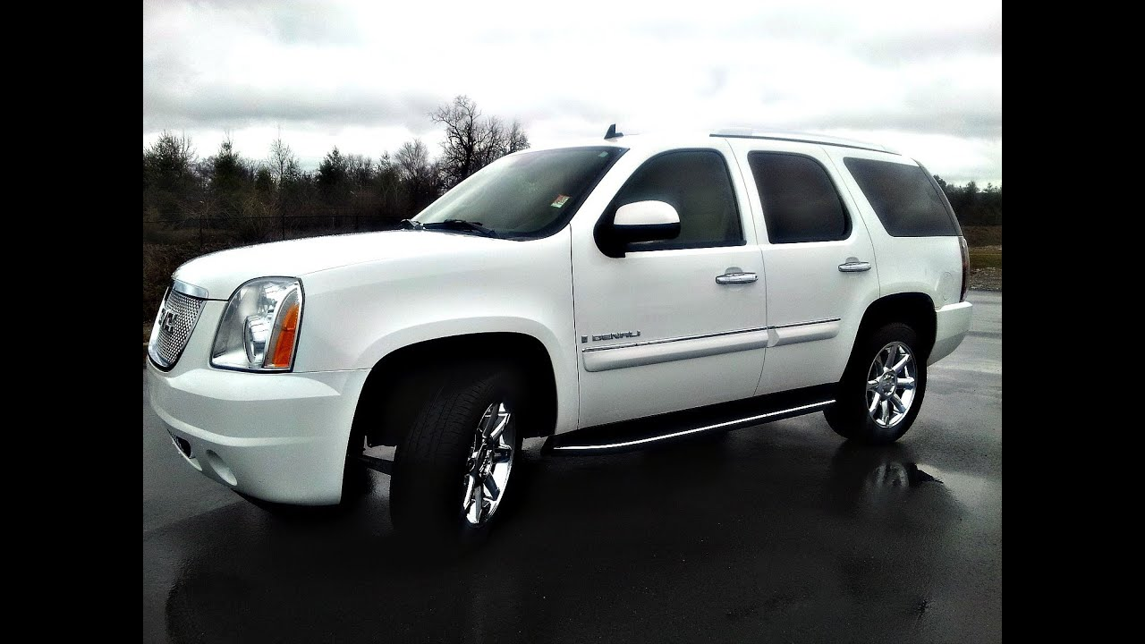 Sold 2008 Gmc Yukon Denali Awd Summit White 62k 6 2l