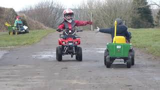 Kids ride tractors, kids driving quad bikes, towing trailers and hay song Mr Tractor _ Nicki Miles
