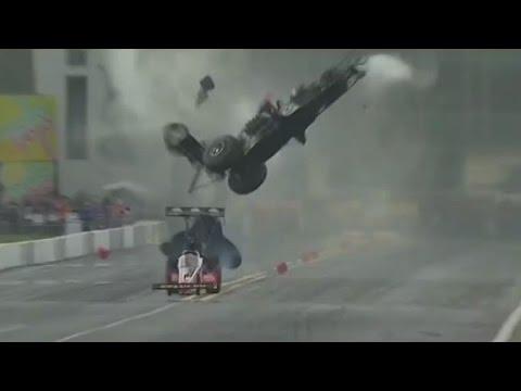 Frightening Drag Race Crash Caught On Camera video