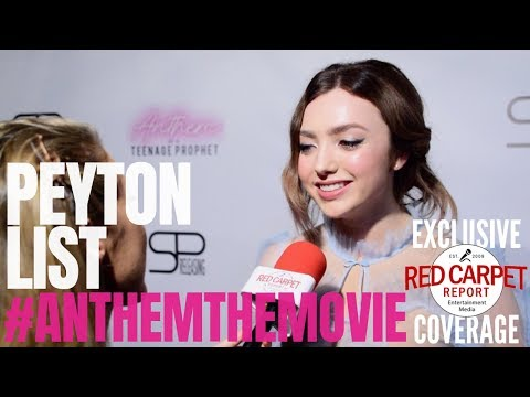 Peyton List Interviewed At The Premiere Of Anthem Of A Teenage Prophet #anthemthemovie #NowPlaying