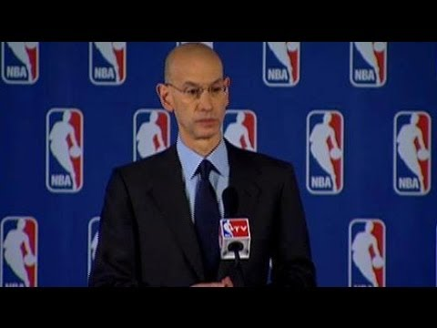 Adam Silver NBA Commissioner Bans Donald Sterling At Press Conference