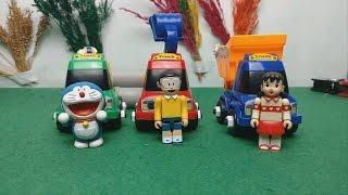 Đồ chơi Doremon - Xuka lái xe xúc cát bắt pokemon
