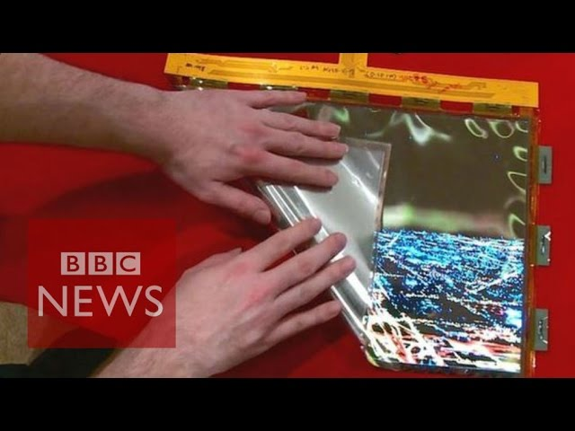 CES 2016: LG's bendy roll-up OLED screen - BBC News