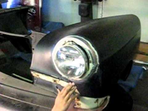 Frenching Headlights On A 54 Chevy Custom Gambino
