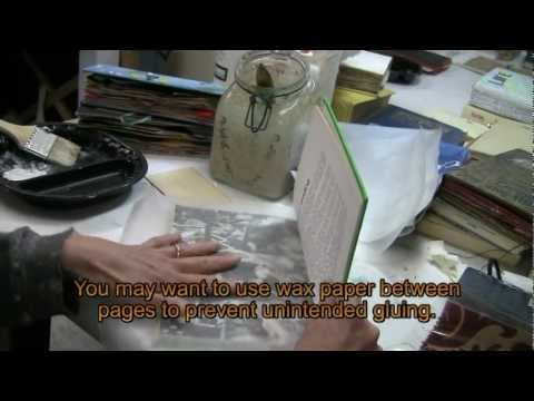 Altered Books-Gluing Pages