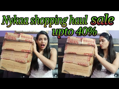 Nykaa shopping haul (monsoon sale upto 40% off)