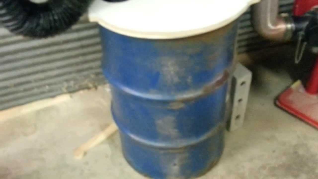 Dust collection AND 55 gallon drum.... Cyclone System - YouTube