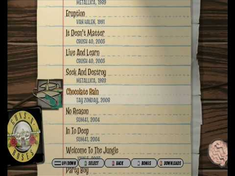 Guitar hero 3 pc custom song list youtube