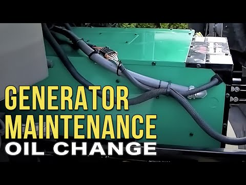 how to change oil on onan 2500