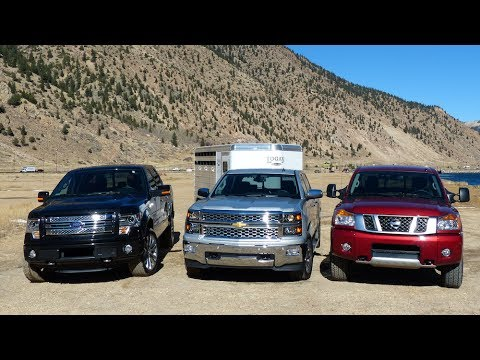 2014 Nissan Titan takes on Ford, Chevy & the Ike Gauntlet 2.0 Mega Tow Test (Episode 1) - YouTube