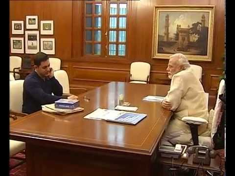 Actor Aamir Khan meets PM Narendra Modi