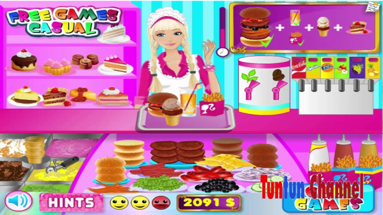barbie cooking games for girls