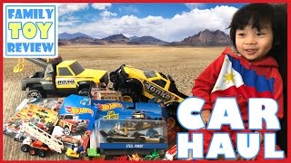 Toy Cars for Kids - Street Vehicles Toy Haul - Tonka Trucks, Hot Wheels, Matchbox Unboxing Review