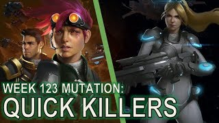 Starcraft II Co-Op Mutation #123: Quick Killers [Reapers do not feed Kill Bots]