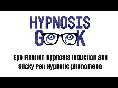 Hypnosis Induction #1 - Eye Fixation and Sticky Pen Hypnosis Induction