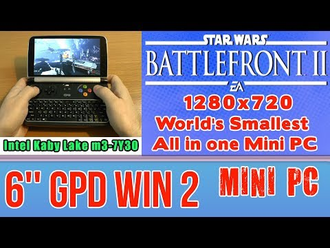 GPD WIN 2 Star Wars Battlefront II 2 (PC) - 256 GB SSD 8GB RAM Handheld Mini PC Intel m3-7Y30 HD 615