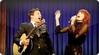 "Download Lagu Audience Suggestion Box: Jimmy Fallon & Florence Welch Sing ""Balls In Your Mouth"" Gratis STAFABAND"