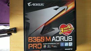 Đập hộp Gigabyte B360m Aorus Pro - Unboxing