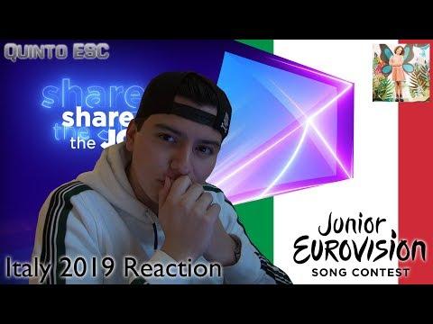 Marta Viola - La voce della terra Reaction - Junior Eurovision 2019 (Italy) - Quinto ESC