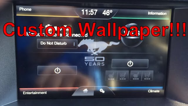 2015 Mustang Custom Wallpaper Myford Touch System Youtube
