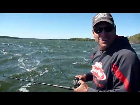 Small Lake Walleye Fishing in North Dakota Fall 2014