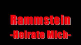 Watch Rammstein Heirate Mich video