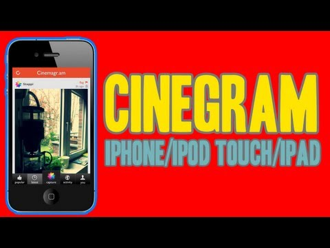 Crea Animaciones En Tu iPhone iPod Touch & iPad Con Cinemagram