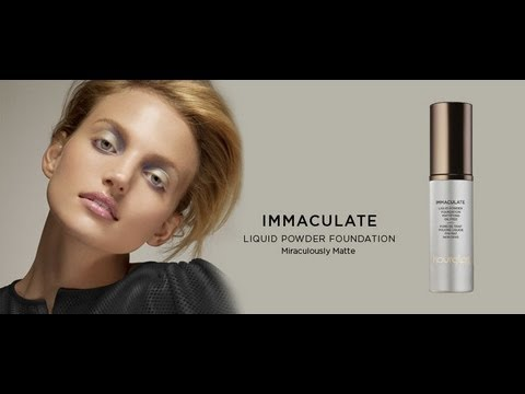 Immaculate Foundation Review -  Liquid Powder Mattifying Oil Free Hourglass Cosmetics