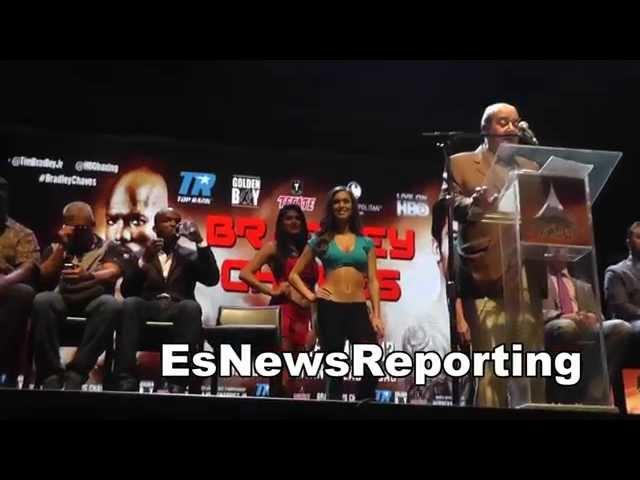 tim bradley vs diego chaves press conference EsNews boxing