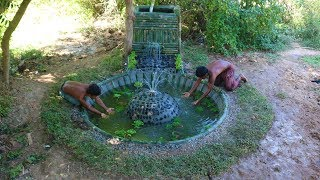 Unbelievable! Two Man Build Beautiful Fish Pond