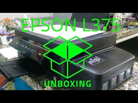 Impressora Epson EcoTank L375 Unboxing 2016 Guia de instalação Configuração review PARTE 2