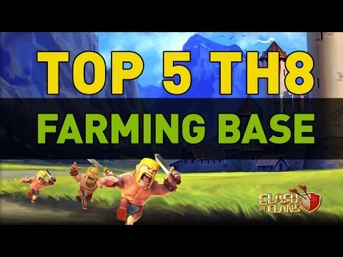 Clash of Clans - TOP 5 TH8 Farming Bases
