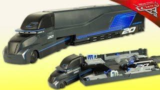 Disney Cars 3 Camion Transporteur Jackson Storm Gale Beaufort Jouet Toy Truck Hauler Review Juguetes