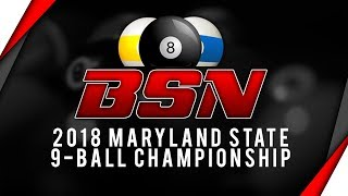 James Aranas vs Alex Kazakis : 2018 MD State 9-Ball Championships