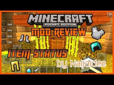 TTC Minecraft PE Mod Review Item status  by Naijaidee