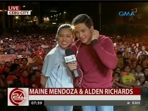 "24 Oras: Aldub, nasa cebu para sa ""Imagine You & Me"" mall show"