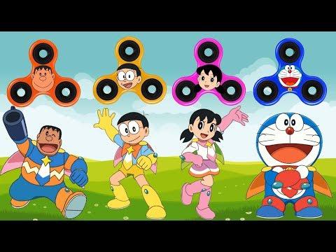 Baby Learn Colors with Fidget Spinner, Doraemon, Nobita, Shizuka, Jaian thumbnail