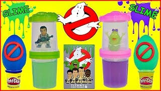 Ghostbusters SLIME Ecto Minis|Titans Vinyl Figure Blind Box and Play Doh Egg Opening
