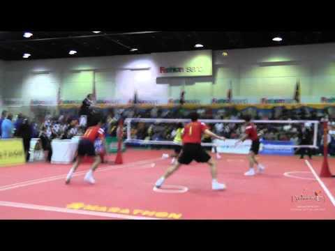 Kings Cup 2014 Sepak Takraw Malaysia Vs. Korea 2nd Regu - Team Event Semi Final video