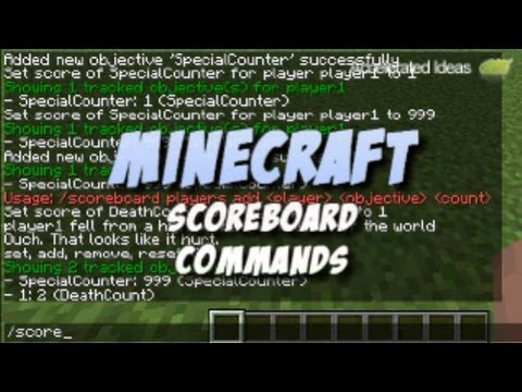 Scoreboard Commands Tutorial - Minecraft 1.5 (13w04a)