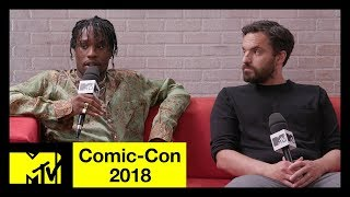 'Spider-Man: Into the Spider-Verse' w/ Shameik Moore & Jake Johnson | Comic-Con 2018 | MTV