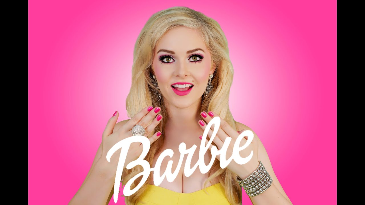 Becoming Barbie - Makeup tutorial - YouTube