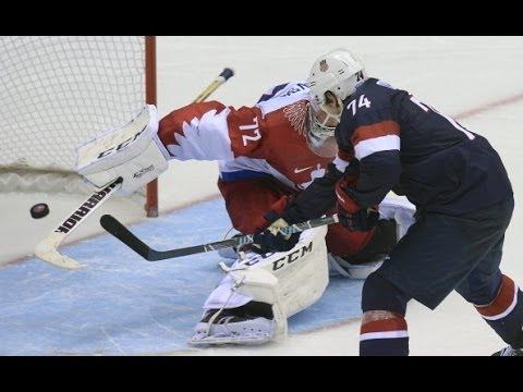 USA vs Russia Hockey Shootout! 2014 Sochi Olympics