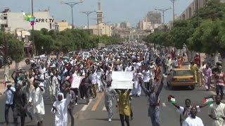 Sénégal   marche de soutien aux palestiniens