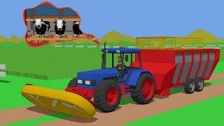 #Farmer mowing field of grass - Food for cows | Rolnik kosi trawe | Traktor Jedzenie dla Krów