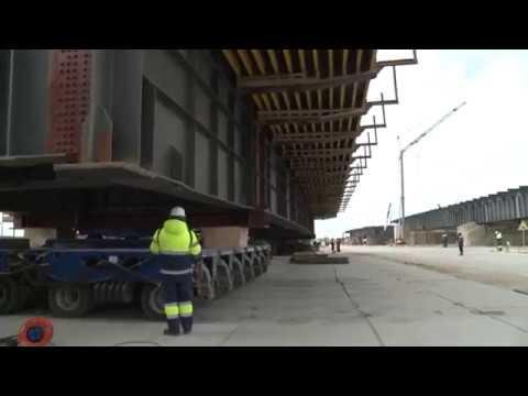 Крымский Мост: ПЕРЕДВИЖКА очередного пролёта моста / Съёмка с коптера /
