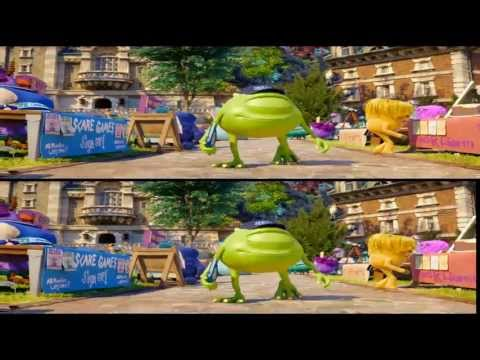 Monsters University 3D - Trailer 2 Latino 3D - Full HD 3D